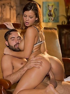 When Keisha Grey feels like getting down and dirty with her man, nothing can stand in her way. She modeled her sheerest piece of lingerie for him the